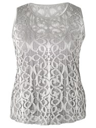 Chesca Stretch Lace Cami Silver Grey