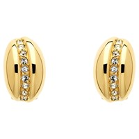 Monet Crystal Bombay Clip On Earrings Gold