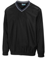 Pga Tour Men's Elements Long Sleeve V Neck Piped Windshirt Caviar