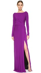 J. Mendel Draped Gown Orchid