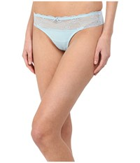 Emporio Armani Sexy Fancy Micro And Lace Brazilian Brief Aquamarine Women's Underwear Blue