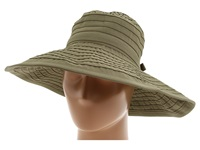 San Diego Hat Company Rbl299 Crushable Ribbon Floppy Hat Olive Traditional Hats