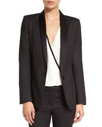 L'agence Antoni Cotton Blend Tuxedo Blazer Black Women's Size 0