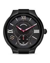 Philip Stein Teslar Philip Stein Large Round Black Pvd Watch Head 40Mm