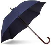 Fred Perry X London Undercover Tipped Umbrella 'Rain Stops Play' Blue