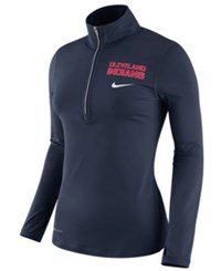 Nike Women's Cleveland Indians Element Pullover Navy