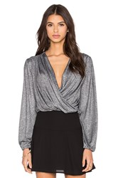 Nightcap Starlite Wrap Blouse Metallic Silver