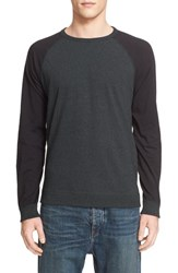 Rag And Bone Men's Colorblock Raglan Sleeve Sweatshirt Spruce Green
