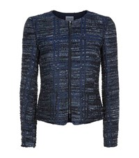 Armani Collezioni Check Boucle Jacket Female Blue