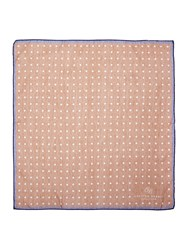 Chester Barrie Spot Patterned Pocket Square Brown