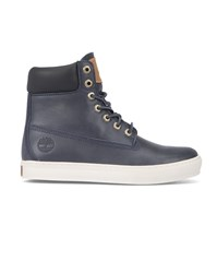 Timberland Blue 6 Inch Cupsole Leather Sneakers