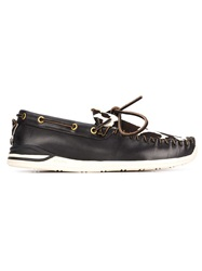 Visvim 'Yucca Moc Fur Folk' Deck Shoes Black