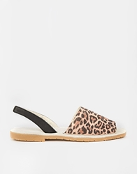 Bronx Sling Flat Sandals Peachleopardsuede