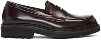 Robert Clergerie Burgundy Chile Loafers