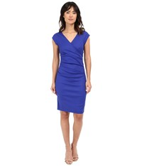 Nicole Miller Linen Beckett Dress Royal Blue Women's Dress