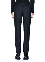 Givenchy Side Strap Wool Pants Black