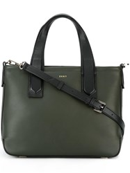 Dkny Two Tone Tote Green