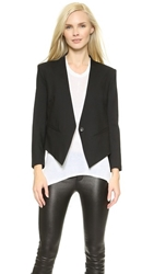 Helmut Lang Smoking Tux Blazer Black