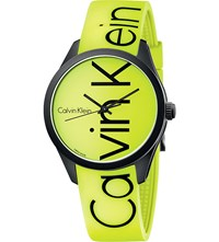 Calvin Klein Color Stainless Steel And Rubber Watch Yellow