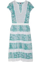 M Missoni Crochet Knit Cotton Blend Dress White