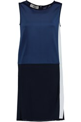 Pringle Pleated Jersey Mini Dress Blue