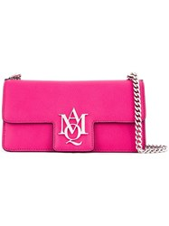 Alexander Mcqueen 'Insignia' Clutch Satchel Pink And Purple