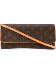 Louis Vuitton Vintage 'Twin' Crossbody Bag Brown