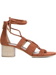 Maiyet 'Skylar' Lace Up Sandals Red