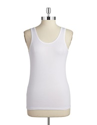 Fine Lines Solid Camisole White