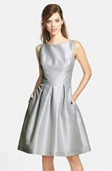 Alfred Sung Women's Dupioni Fit And Flare Dress