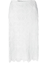 Dondup Scalloped Lace Skirt