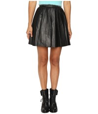 Jeremy Scott Leather Circle Skirt Black Women's Skirt