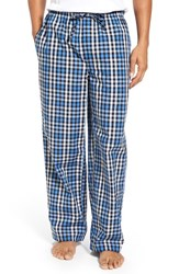 Nordstrom Men's Big And Tall Men's Shop Woven Lounge Pants Blue Navy Gingham Check