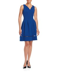 Taylor Knit Fit And Flare Dress Cobalt
