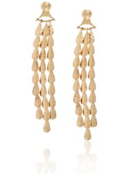 Sophia Kokosalaki Gold Lunar Drop Chandelier Earrings