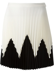 Amen Pleated Contrast Patterned Skirt