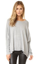 525 America Dolman Center Seam Sweater Heather Grey