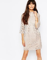 Vero Moda High Neck Lace Dress Mahoganyrose