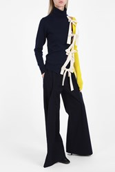 Jacquemus Triangle Panelled Trousers Navy