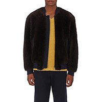 Marni Men's Fur Bomber Jacket Brown