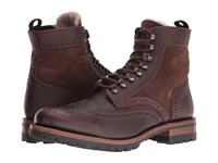 Frye George Adirondack Brown Wp Scotchgrain Shearling Suede Men's Lace Up Boots