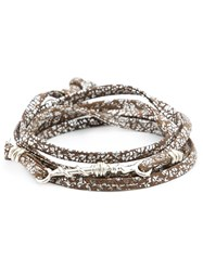 1 100 Twisted Wire Bead Wrap Bracelet Brown