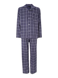 Howick Check Flannel Pyjama Set Navy
