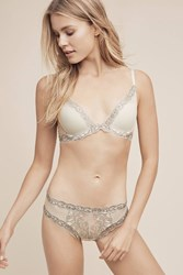 Anthropologie Natori Feathers Hipsters Silver