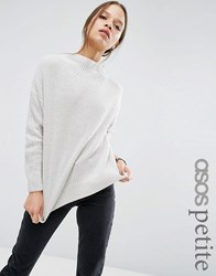 Asos Petite Ultimate Chunky Jumper With High Neck Grey
