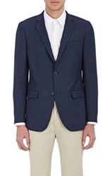 Theory Men's Micro Grid Pattern Rodolf Sportcoat Blue