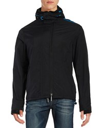 Superdry Hooded Zip Front Jacket Black
