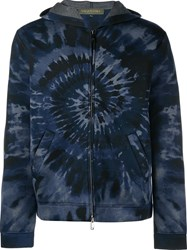 Valentino 'Tie And Dye' Hoodie Blue