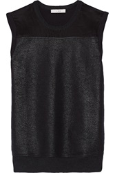 Iro Eslyne Coated French Terry Tank Black