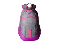 Adidas Foundation Ii Backpack Heather Granit Shock Purple Shock Pink Deepest Space Backpack Bags Gray